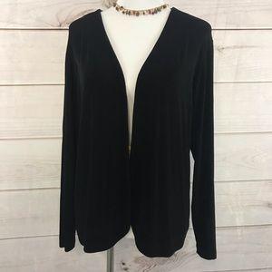 Chico's Travelers Cardigan Sweater Size 3 Black